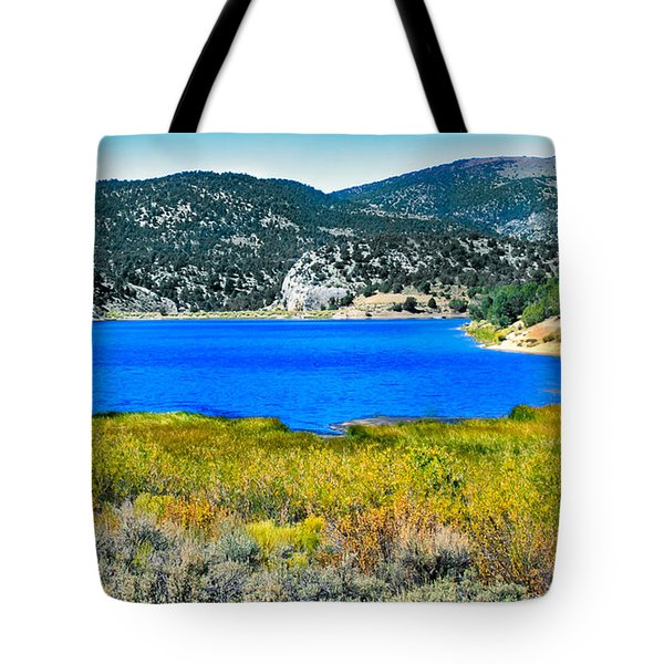 Cave Lake Tote Bag by Robert Bales