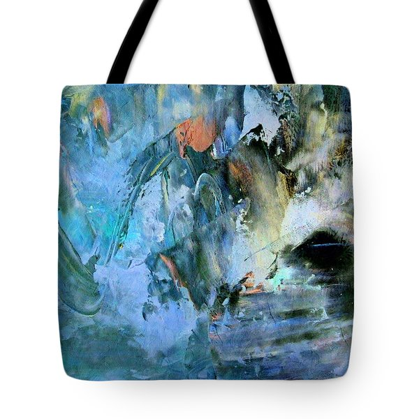 Tote Bag featuring the painting Cave Of Depression by Isabella Howard