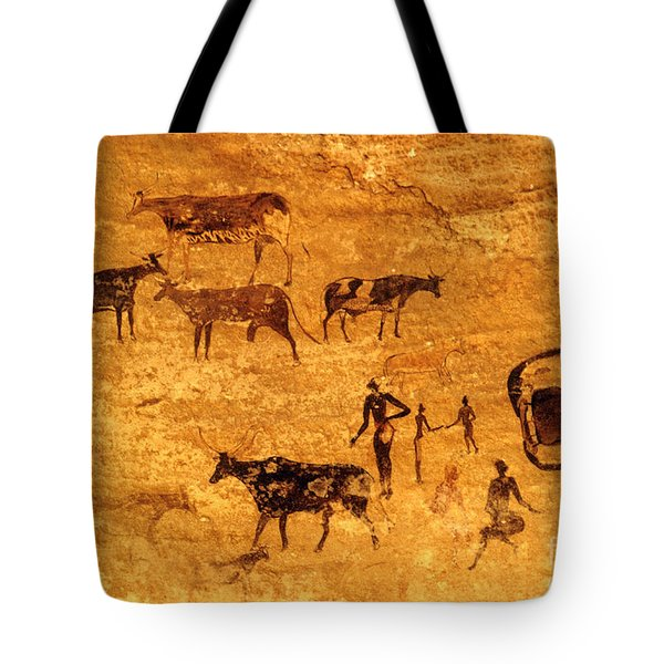 Cave Painting South Algeria Tote Bag by George Holton