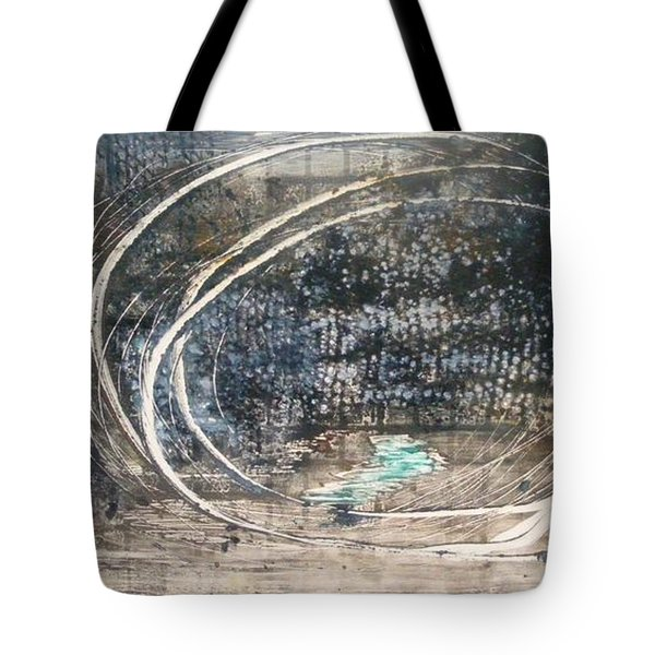Tote Bag featuring the painting Cavernous by Lesley Fletcher