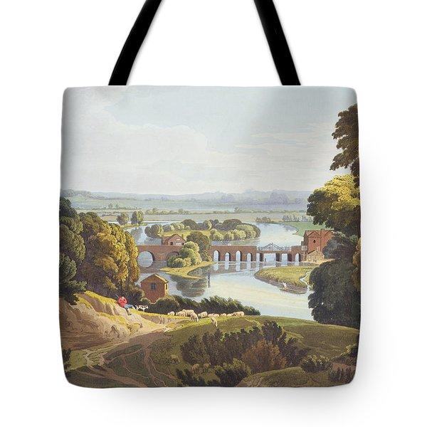 Caversham Bridge, Near Reading Tote Bag by William Havell