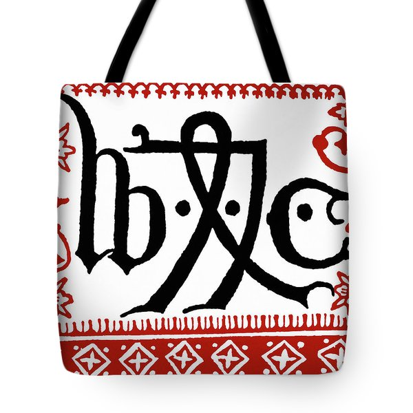 Caxton's Printing Device Tote Bag