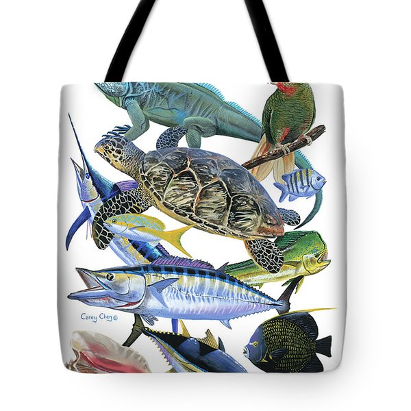 Cayman Collage Tote Bag by Carey Chen