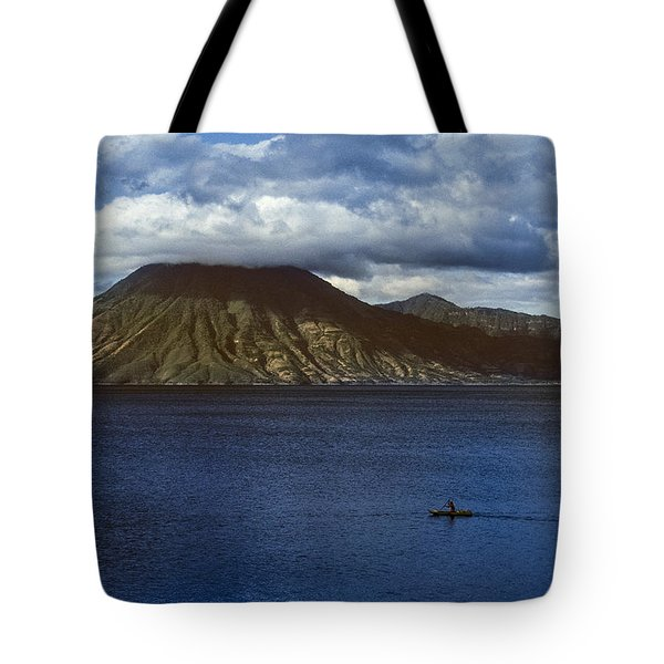 Cayuco On Lake Atitlan Tote Bag
