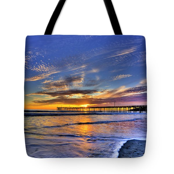 Cayucos Sunset Tote Bag