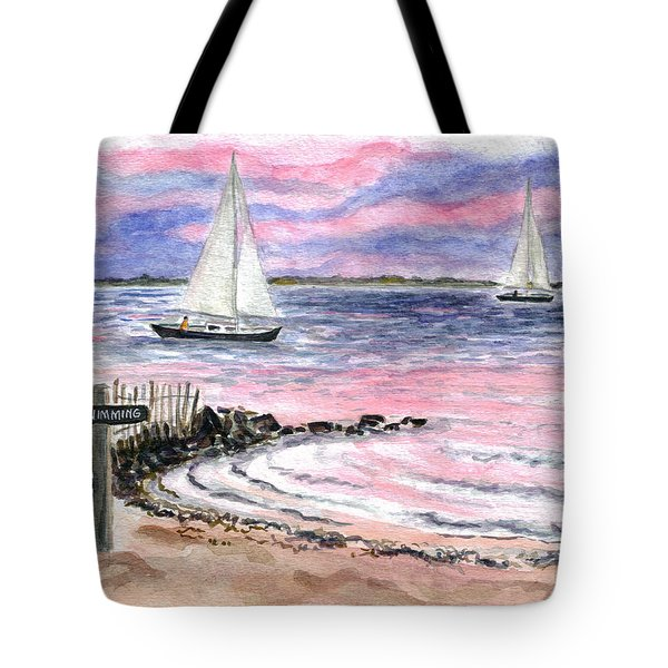 Cedar Beach Pinks Tote Bag