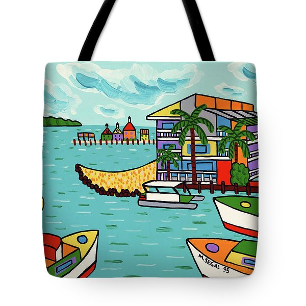 Cedar Cove Marina - Cedar Key Tote Bag