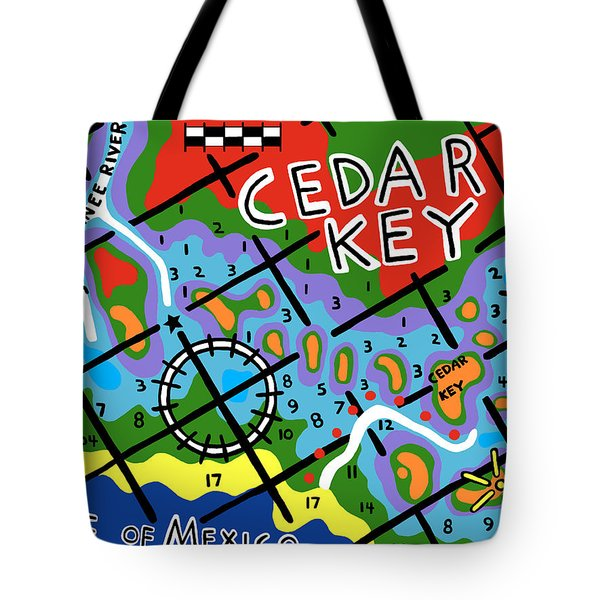 Cedar Key Chart Tote Bag