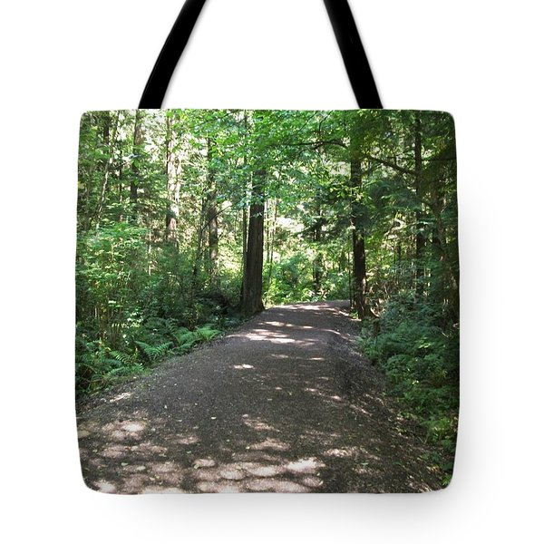 Cedar Shadow Steps Tote Bag by Kim Prowse