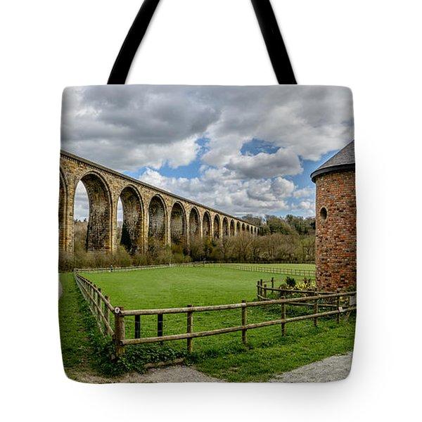 Cefn Viaduct Tote Bag by Adrian Evans