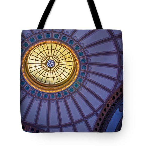 Tote Bag featuring the photograph Ceiling In The Chattanooga Choo Choo Train Depot by Susan  McMenamin