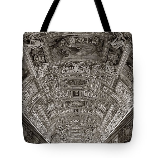 Ceiling Of Hall Of Maps Tote Bag