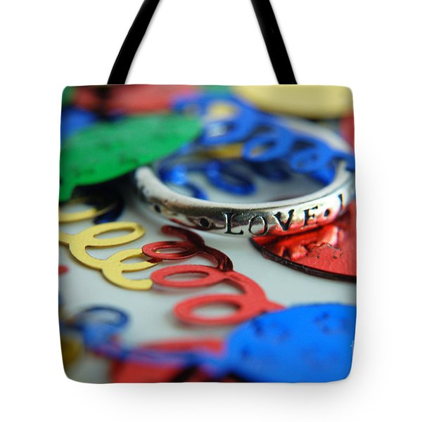 Tote Bag featuring the digital art Celebrate Love by Margie Chapman