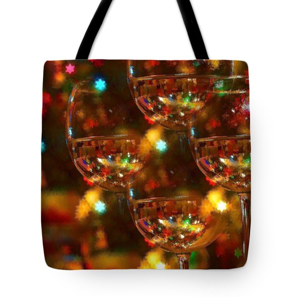 Celebrate Tote Bag by Peggy Hughes