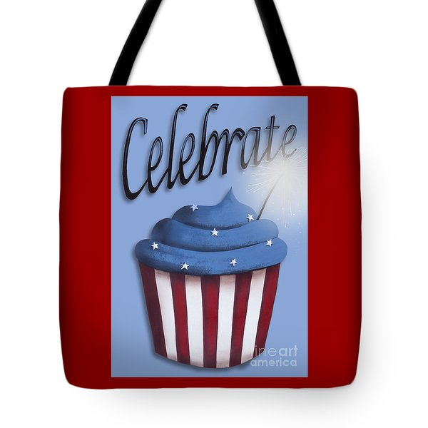 Celebrate The 4th / Blue Tote Bag by Catherine Holman