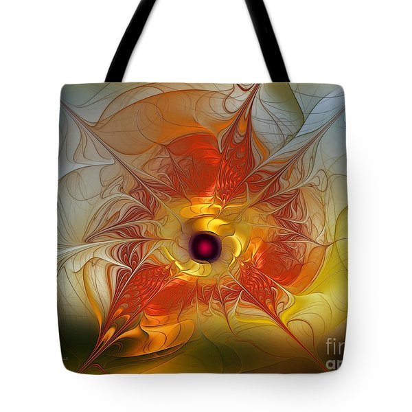 Celebration For A Rising Star-abstract Fractal Art Tote Bag by Karin Kuhlmann
