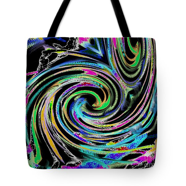 Tote Bag featuring the painting Celebration Night by Roz Abellera Art