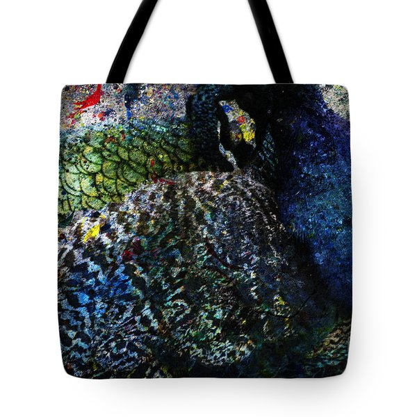 Celebration Of The Peacock #2 Tote Bag by Nola Lee Kelsey