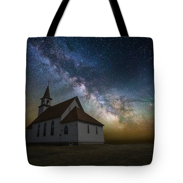 Tote Bag featuring the photograph Celestial by Aaron J Groen