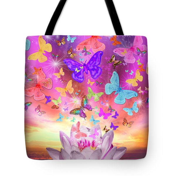 Celestial Butterfly Tote Bag by Alixandra Mullins
