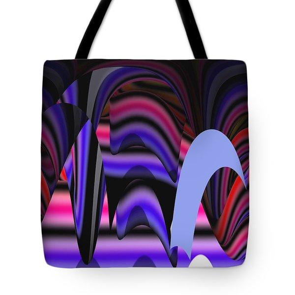 Celestial Cave Digital Art Tote Bag by Georgeta  Blanaru