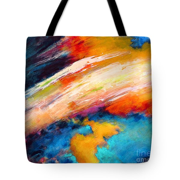 Fantasies In Space Series Painting. Celestial Vibrations. Tote Bag