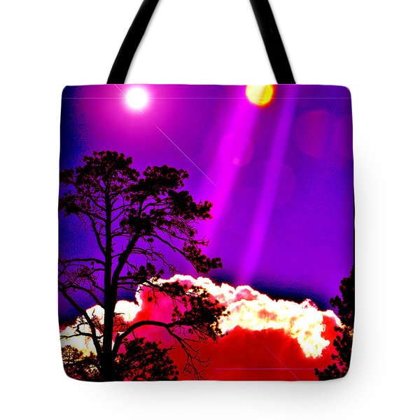 Tote Bag featuring the photograph Celestial Infusion by Susanne Still