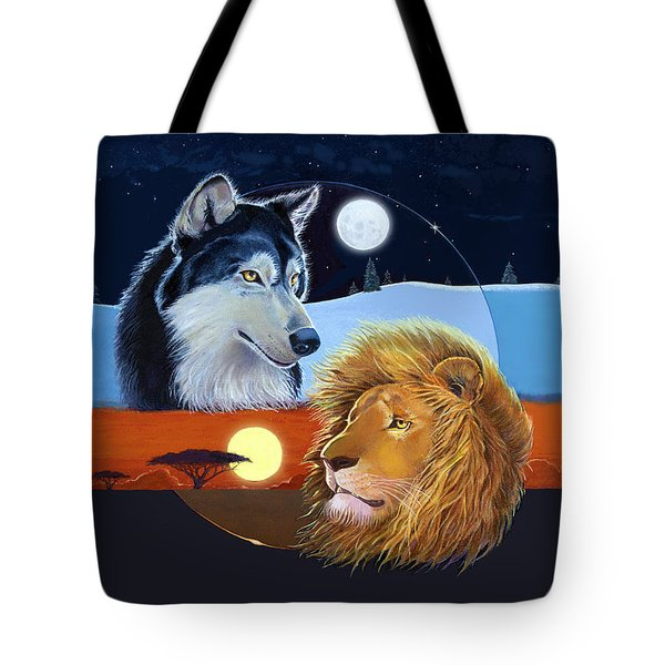 Tote Bag featuring the mixed media Celestial Kings by J L Meadows