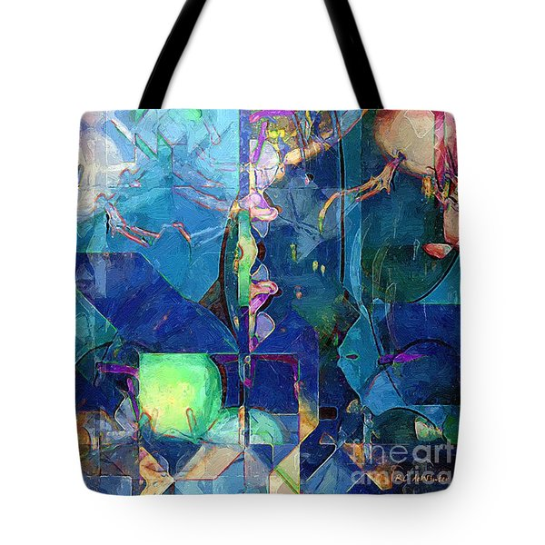 Celestial Sea Tote Bag by RC deWinter