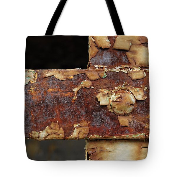 Tote Bag featuring the photograph Cell Strapping by Fran Riley