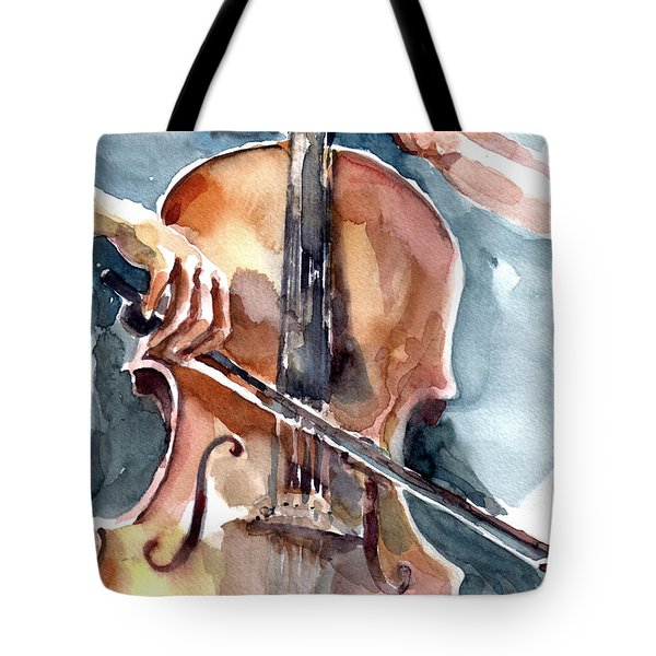 Cellist Tote Bag by Faruk Koksal
