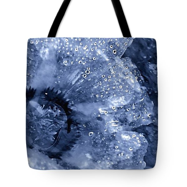 Cellophane Flower- Sapphire Tote Bag by Darla Wood