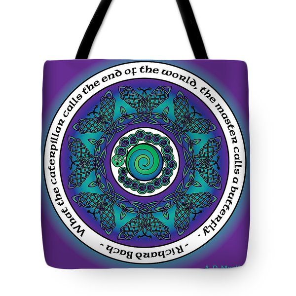 Celtic Butterfly Mandala Tote Bag