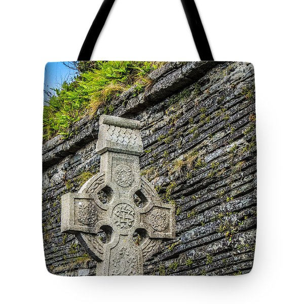 Celtic Cross At Kilmurry-ibrickan Church Tote Bag