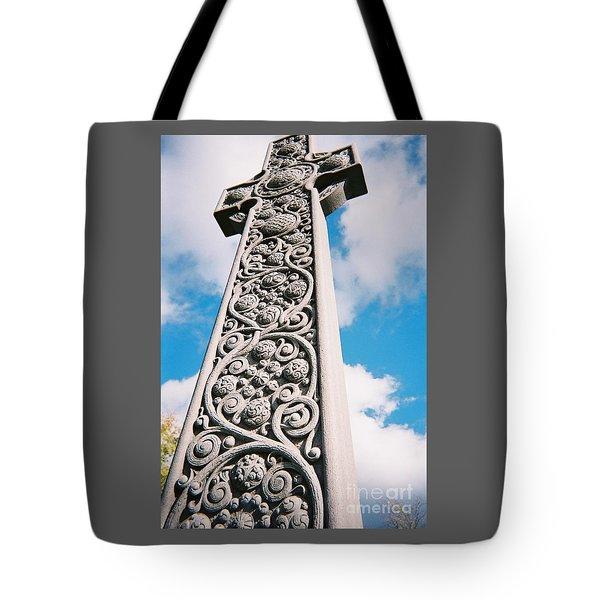 Tote Bag featuring the photograph Art Nouveau Celtic Cross I by Peter Gumaer Ogden