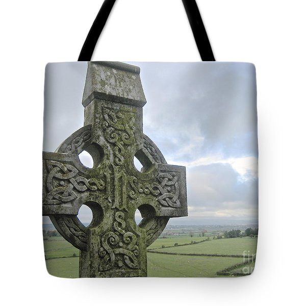 Celtic Cross Tote Bag by Suzanne Oesterling