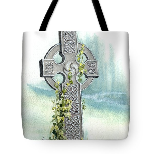 Celtic Cross With Ivy II Tote Bag