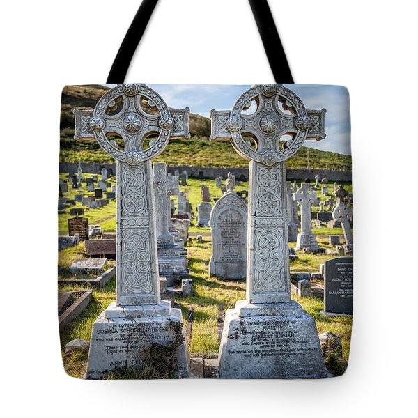 Celtic Crosses Tote Bag by Adrian Evans