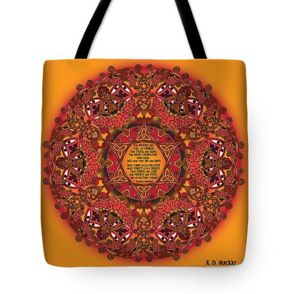 Celtic Fall Fairy Mandala Tote Bag