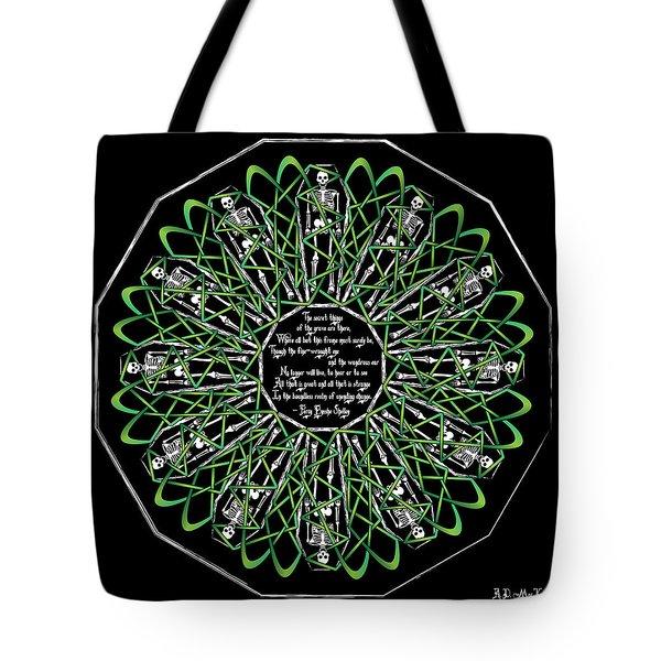 Celtic Flower Of Death Tote Bag