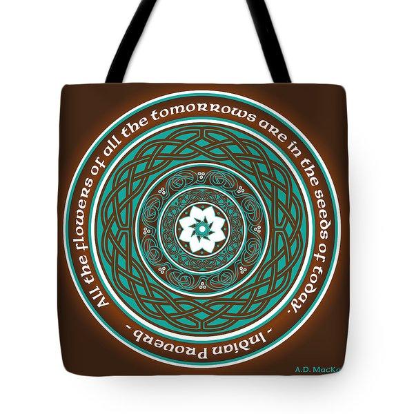 Celtic Lotus Mandala Tote Bag
