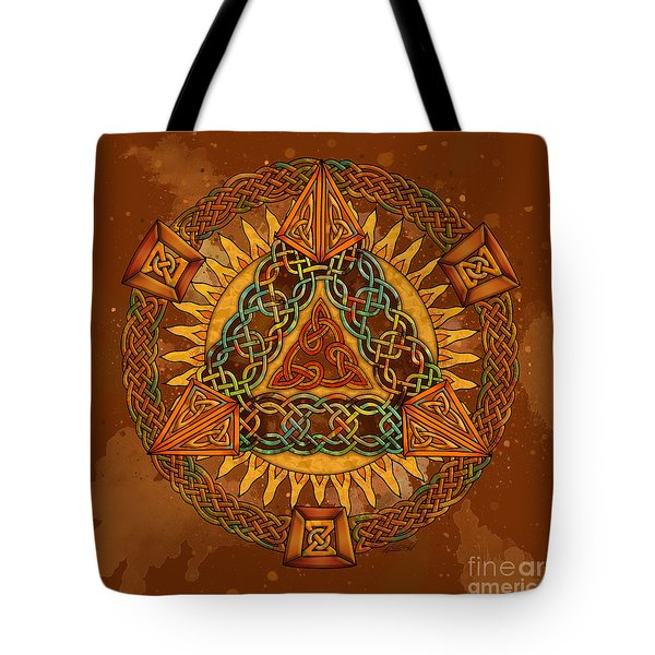 Celtic Pyramid Mandala Tote Bag