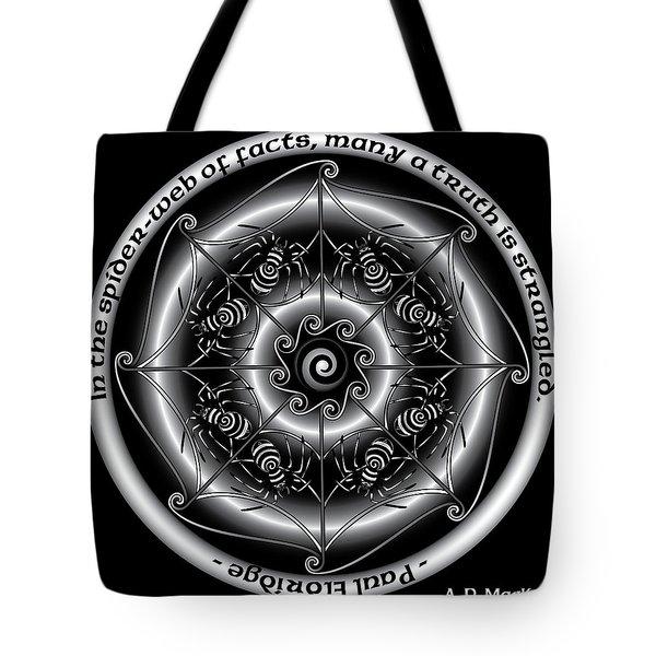 Celtic Spider Mandala Tote Bag
