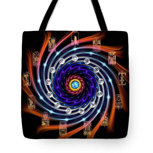 Celtic Tarot Moon Cycle Zodiac Tote Bag