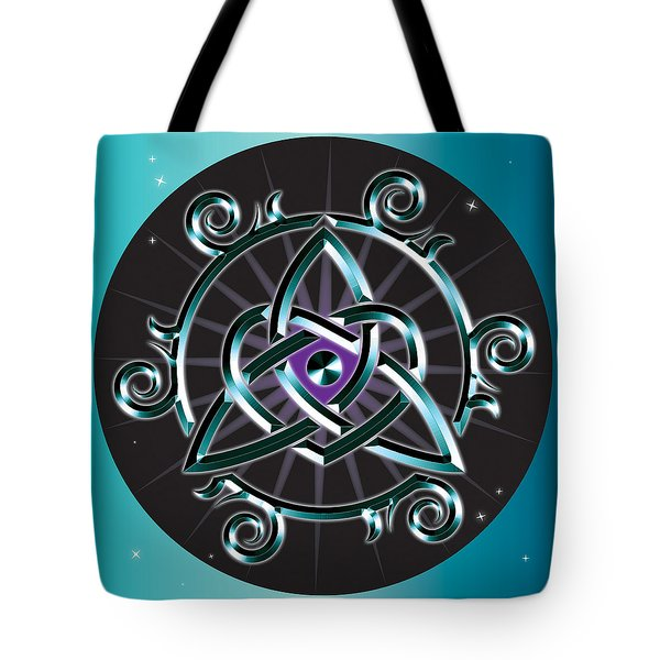 Celtic Triquetra Heart Tote Bag