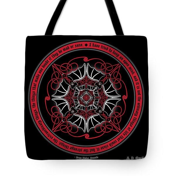 Celtic Vampire Bat Mandala Tote Bag