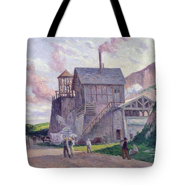 Cement Factory At Vermenton Tote Bag