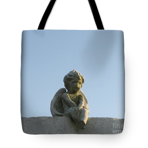 Tote Bag featuring the photograph Cemetery Cherub by Joseph Baril