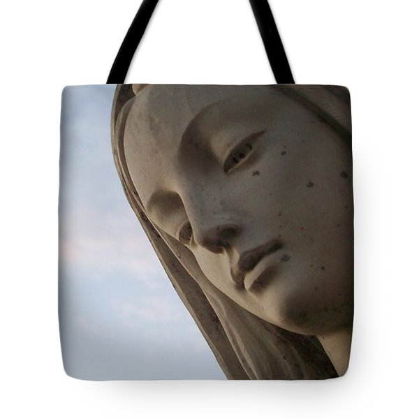 Cemetery Statue Tote Bag by Justin Moore