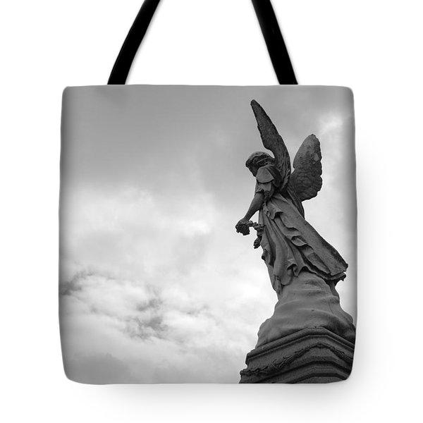 Cemetery Watcher Tote Bag by Jennifer Ancker